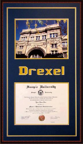 Drexel University Diploma Frame Www Diplomaframesplus Com