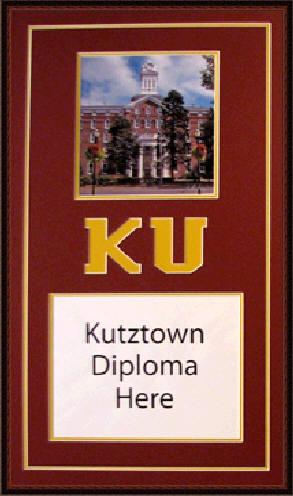 Kutztown University Diploma Frame Www Diplomaframesplus Com