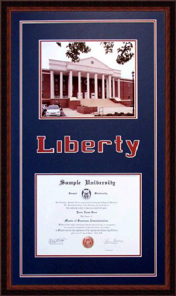 Liberty University Diploma Frame | www.DiplomaFramesPlus.com