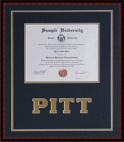 Pitt diploma frame | www.DiplomaFramesPlus.com