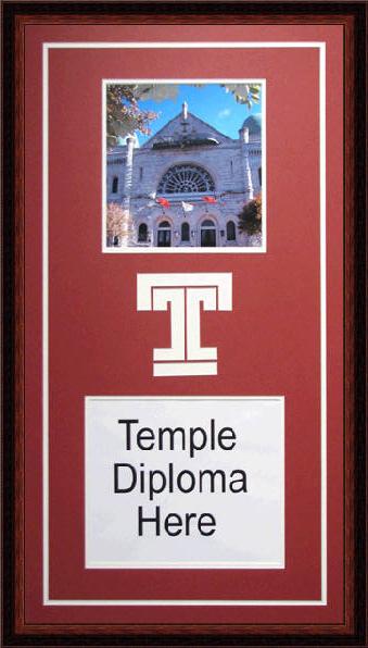 Temple University Diploma Frame Www Diplomaframesplus Com