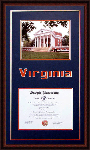 University Of Virginia Diploma Frame Www